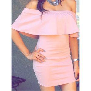 Short off the shoulder dress!